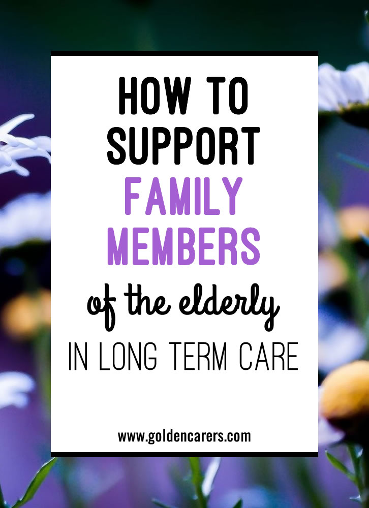 The family plays a vital role in the health and well-being of the elderly. Supporting family members to become more involved in their loved one's life can benefit clients tremendously.