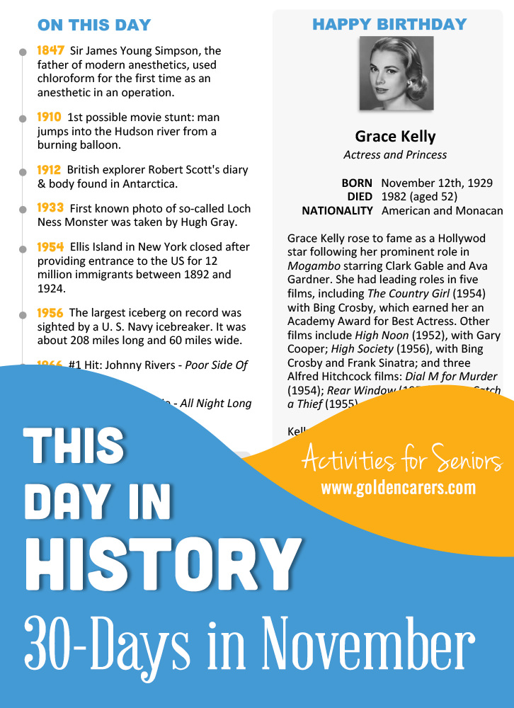 This Day in History for Seniors: November