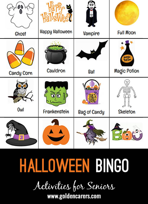 A Halloween themed bingo to enjoy!
