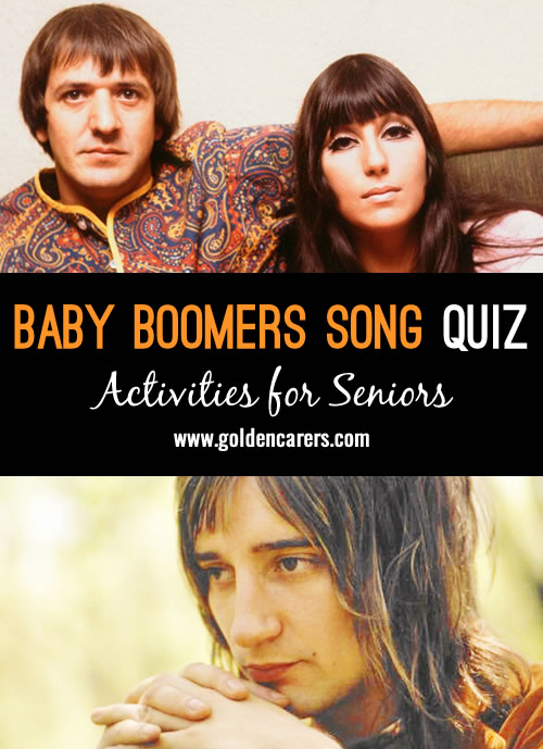 These songs were famous in the 1950s, 60s and 70s. Get acquainted with the songs to give clues and help out with the singing!