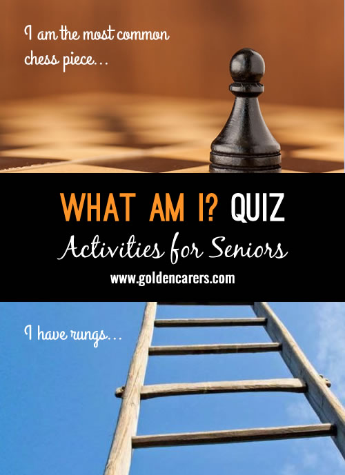 A fun quiz for seniors that leads to discussion and reminiscing!