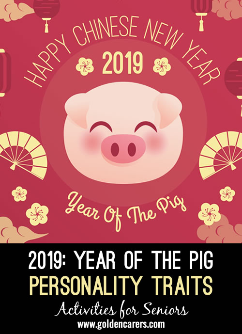 The Chinese New Year is also called Spring Festival and dates back 4,000 years. 2019 is a year of the Pig.
