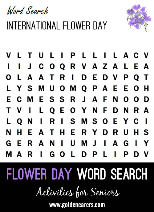 A flower themed word finder to enjoy!