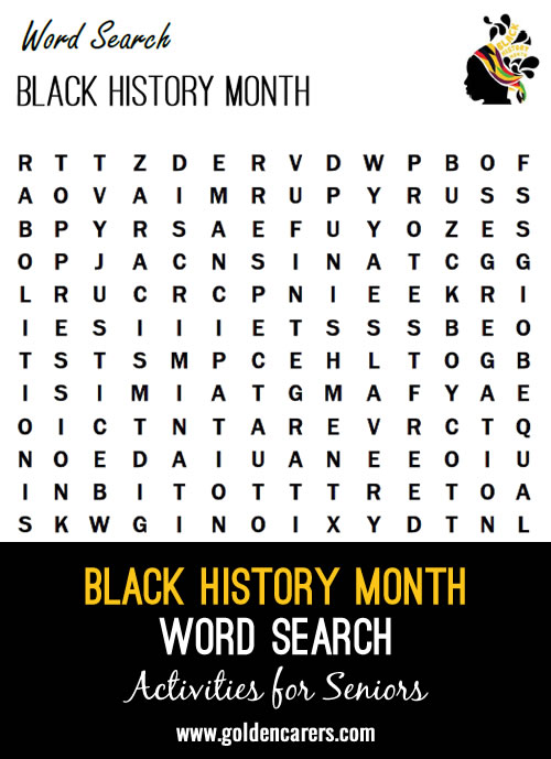 Here's a word search to share during Black History Month!