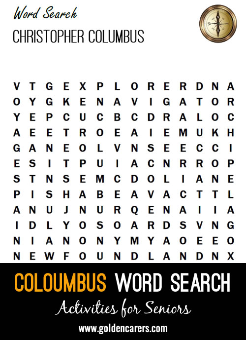Read about the history of Christopher Colombus and search for the higlighted words!