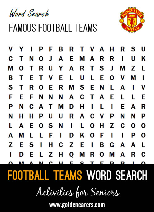 A football themed word search!