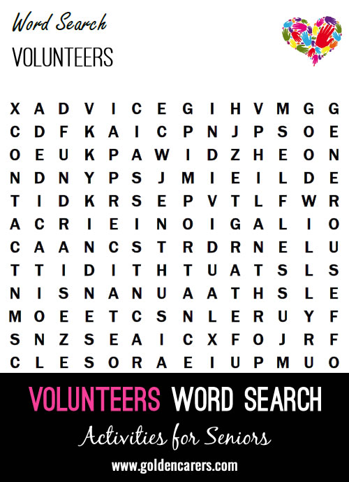 Volunteers Word Search