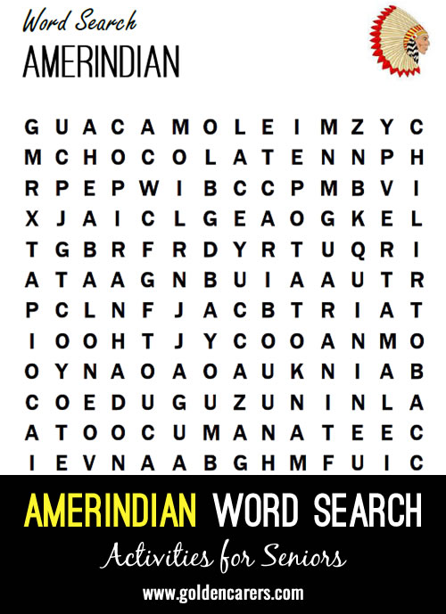 Find the American Indian words!