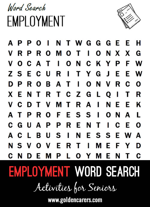 A work themed word search!