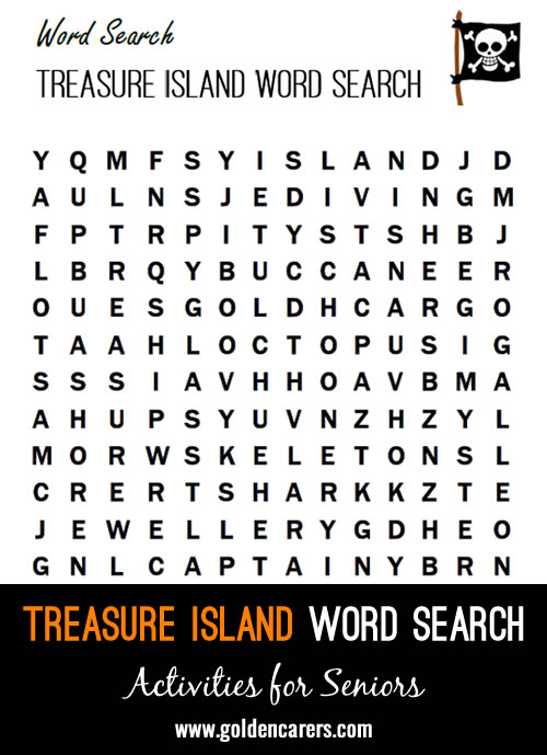 Treasure Island Word Search