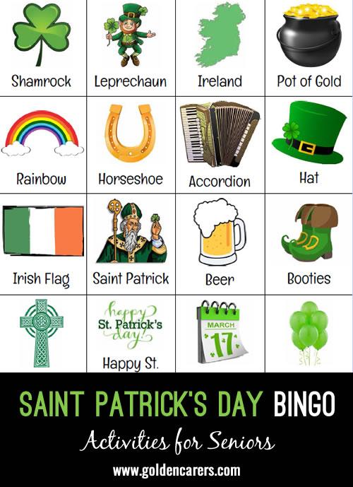A St. Patrick's Day themed bingo!