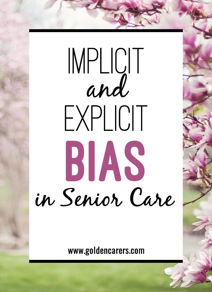 We all have implicit and explicit biases that we bring with us into the workplace. These biases whether intentional or not can have profound effects on the quality of care we provide and the resulting quality of life for persons living in aged care.