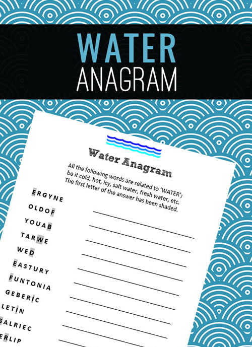 Water Anagram