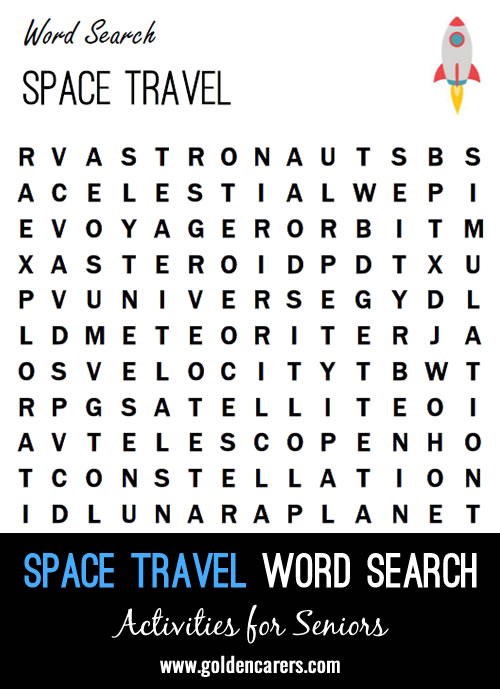 A space travel themed word finder!