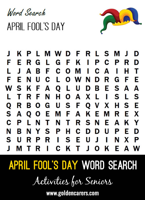 Celebrate April Fool's Day with a word search!