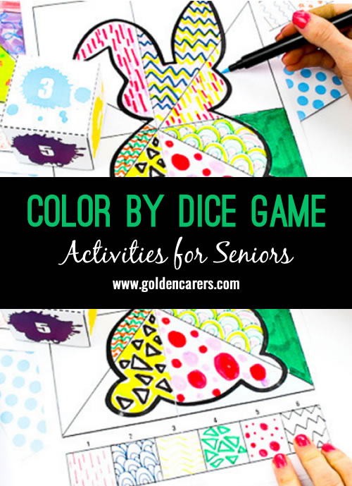 This Roll the Dice Draw and Colour Activity pairs art with numbers to create a fun and creative game that everybody will love.