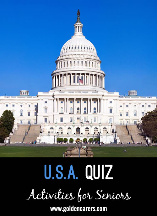 A general knowledge quiz about the United States of America.