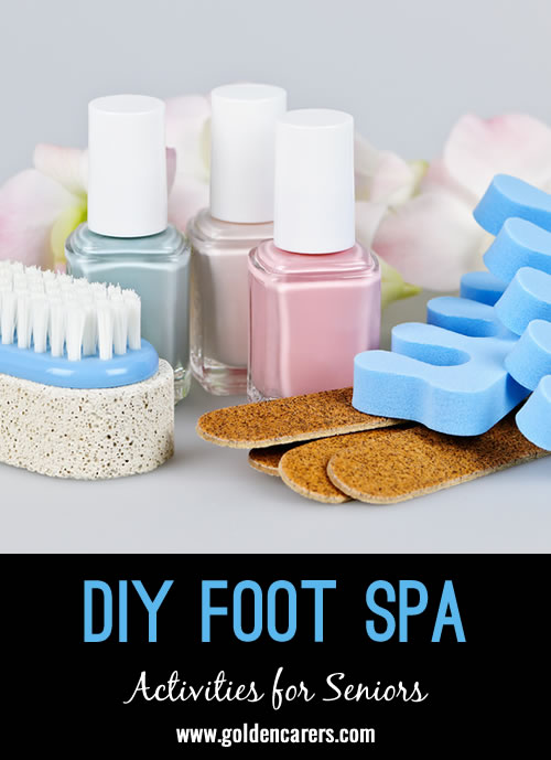 For many seniors, sore feet are a part of daily life due to the wear and tear of years gone by. Delight your clients by introducing foot spa sessions into your Activity Program.