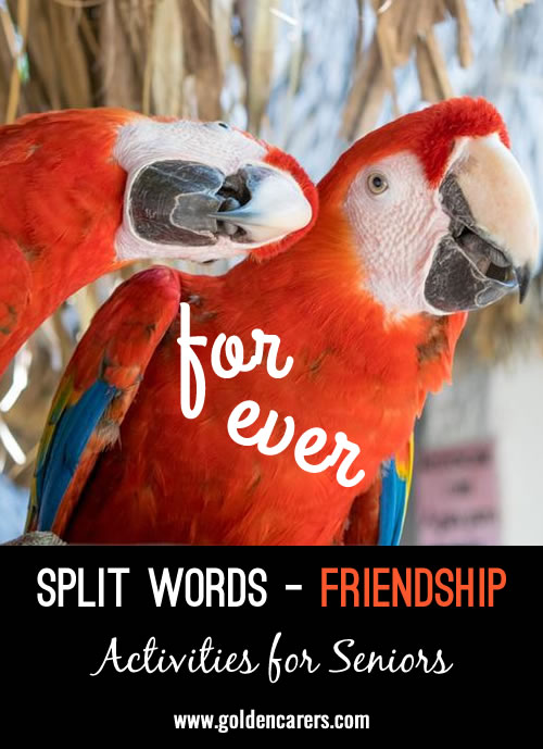 Split Words - Friendship