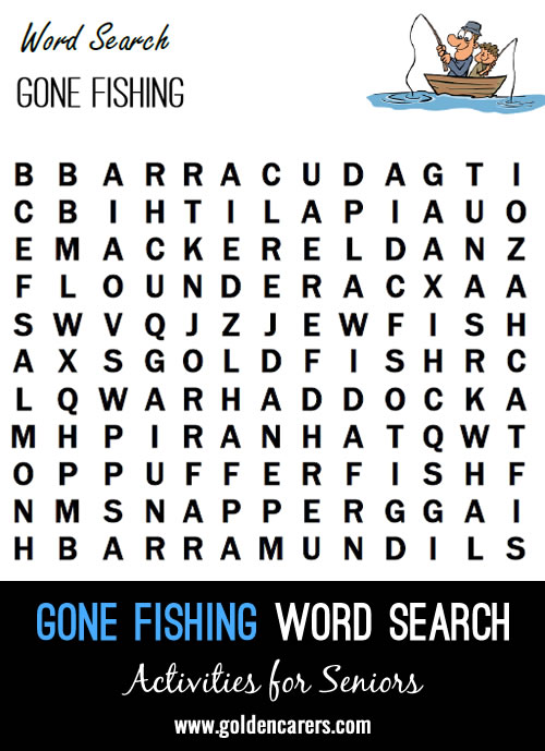 Here is a fishing themed word finder!