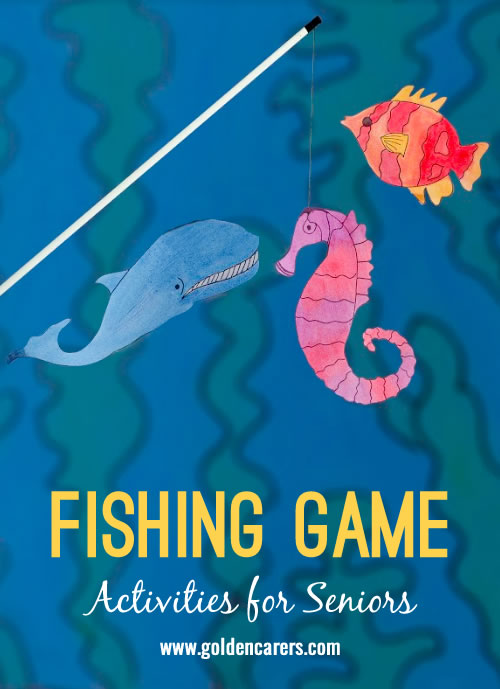 Improve hand-eye coordination and provide some gentle exercise for the upper body with this fun fishing game! A wonderful opportunity to reminisce!