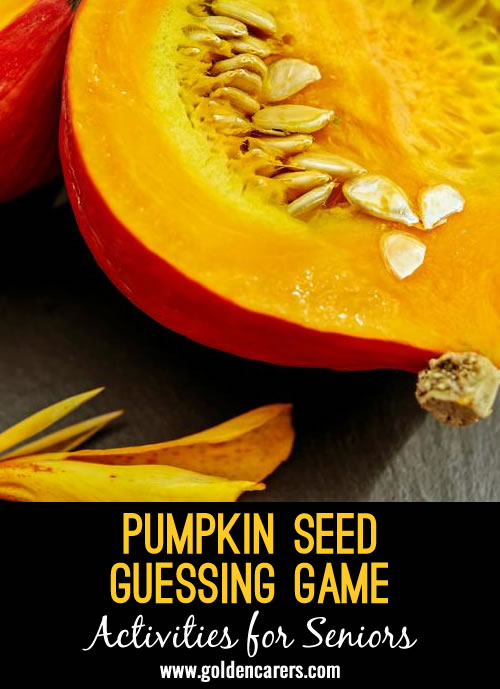 Pumpking Seed Guessing Game