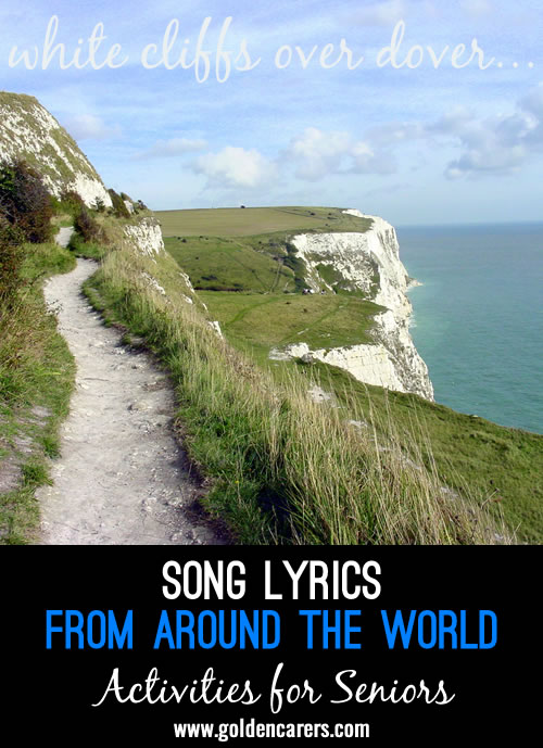 This is a list of songs and their words that I have collaborated from google of many songs from around the world...there are some that I have missed and would be interested to know what others you would include.  Enjoy!