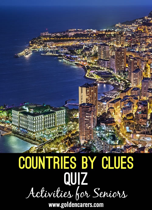 Guess the countries by the clues provided!