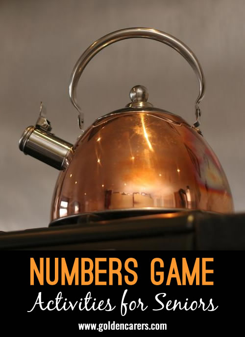 A fun numbers quiz for seniors! I have always had great success with numbers in my experiences.