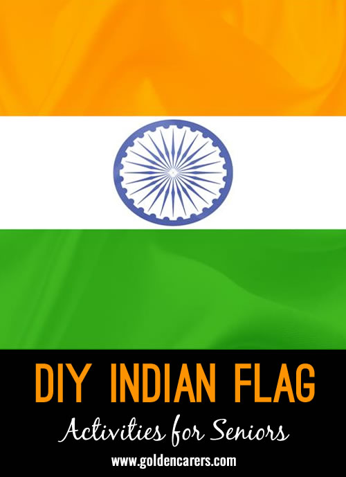 Create your own Indian Flags to decorate your facility on Indian Independence Day.