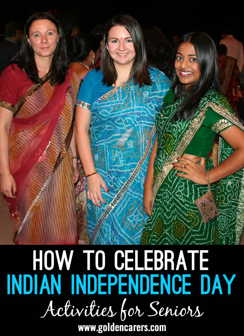 India's Independence Day falls on August 15. It celebrates its independence from British rule after 200 years.