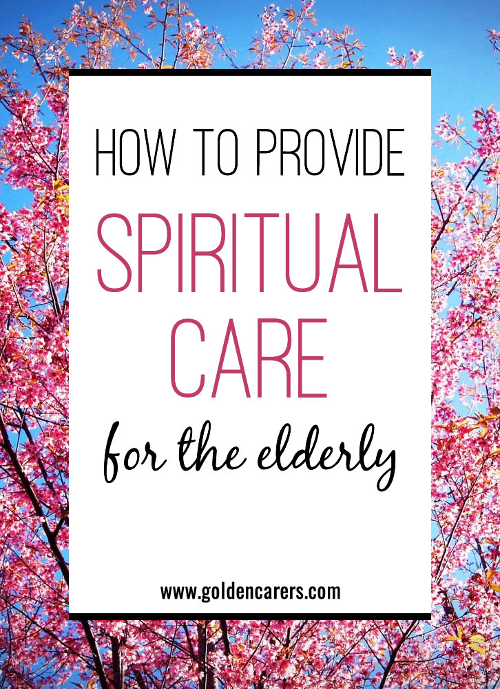 Very few care homes have chaplains or pastoral carers. This means that Activity Coordinators are often left to handle spiritual issues. With an open and caring heart, you can do it.