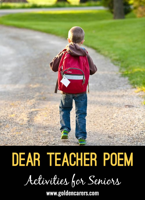 Dear Teacher Poem