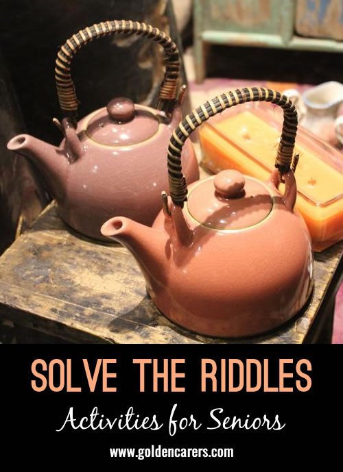 Put your brainpower to work and solve these mind-bending riddles!