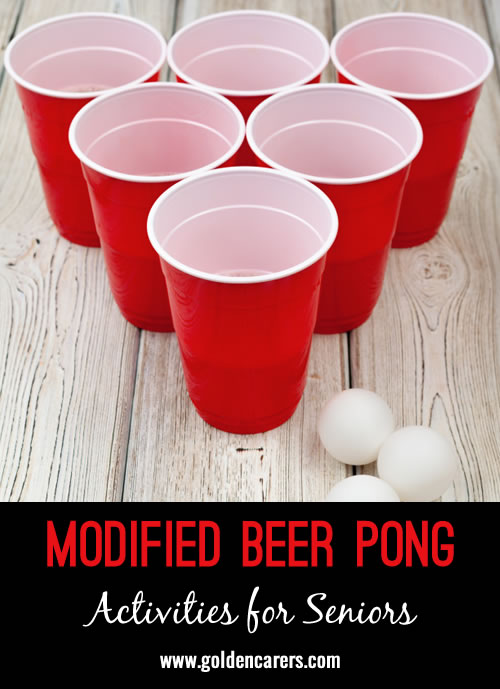 This is a party game I have tried and my residents have asked for it frequently on the programs calendar. It promotes hand-eye coordination, physical movement, cognitive functioning through concentration, and social inclusion.