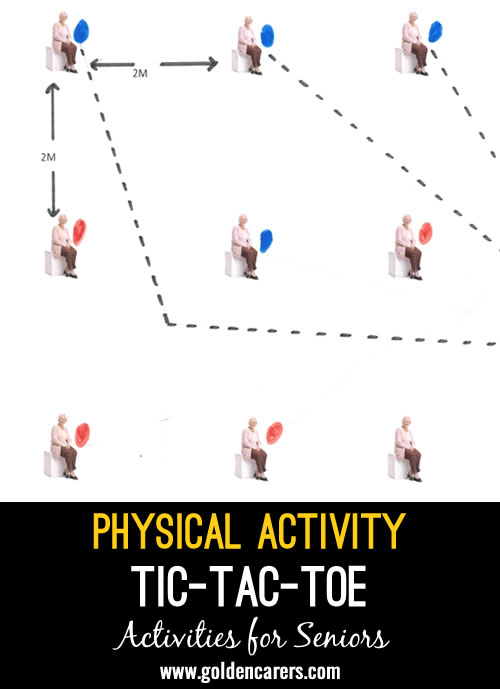 Hi all, I'd love to share this physical activity I have created and use on a regular basis: seated O's & X's. (Also known as Naughts & Crosses, Tic-Tac-Toe or 3-in-a-row).