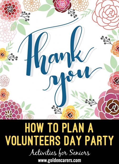 How to Plan a Volunteers Day Party