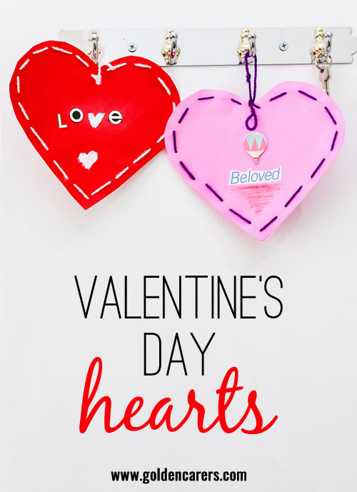 Make dozens of these lovely hearts and string them around your recreation area!