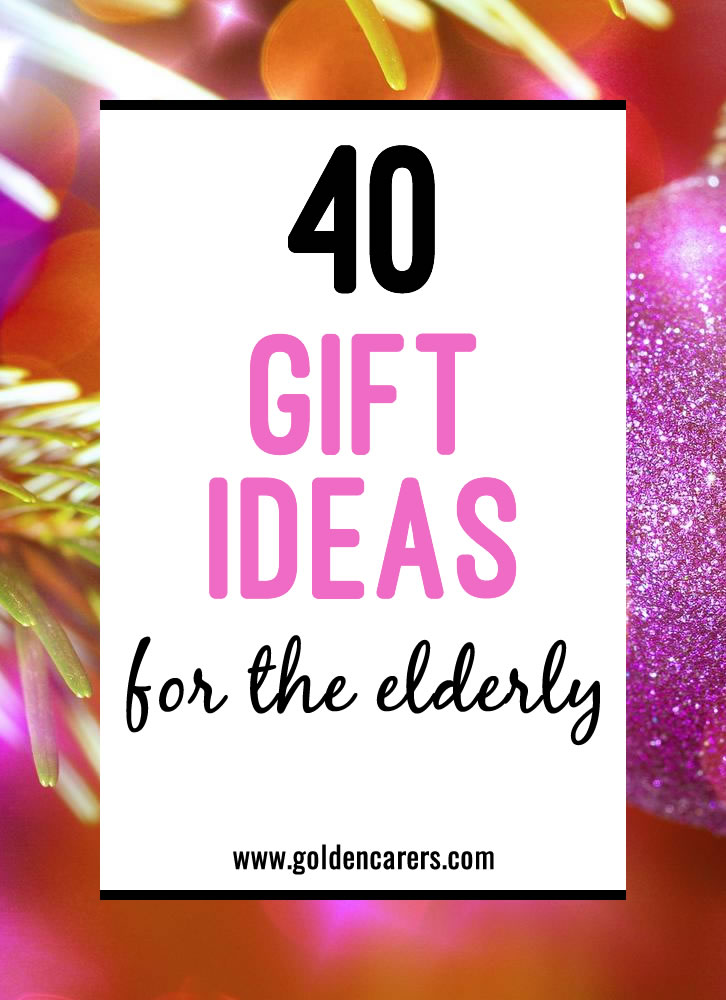 Here are some ideas for affordable gifts and Golden Carers homemade gifts.