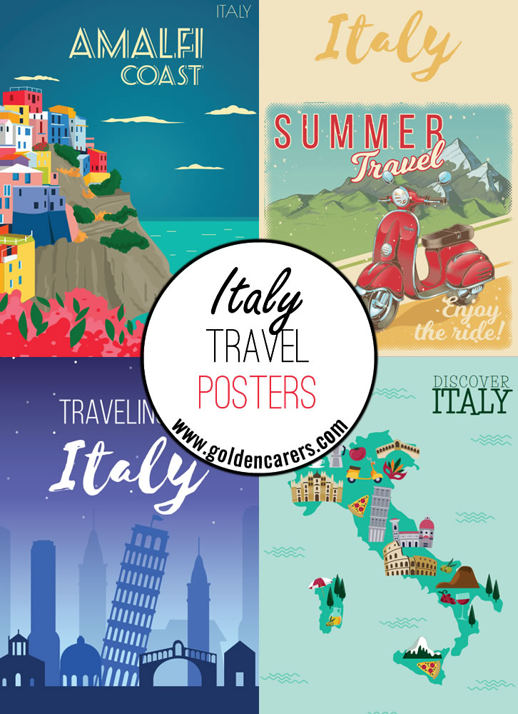 Italy travel posters - a great way to decorate the room for an Italian theme day!