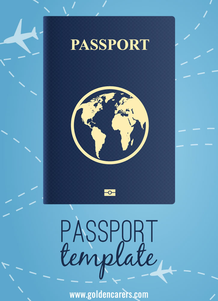 Printable passports for armchair travel activities!