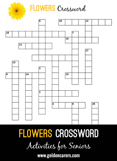 A fun crossword all about flowers with visual clues!