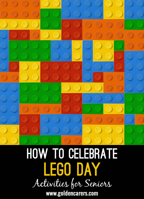 Did you know January 28 is National Lego Day? You can celebrate all day long by incorporating bits and pieces of Legos into your events.