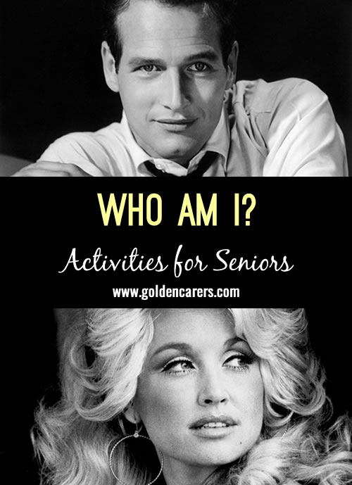 Guess who these famous people are - all born in January! A fun reminiscing activity.
