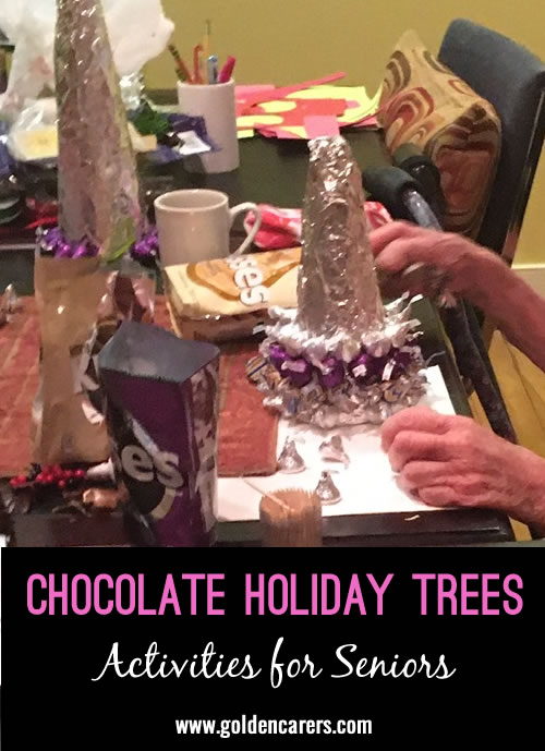We like to have our residents work together, it's fun to talk and laugh and have a cup of tea or coffee, along with eating some chocolate kisses so get enough!