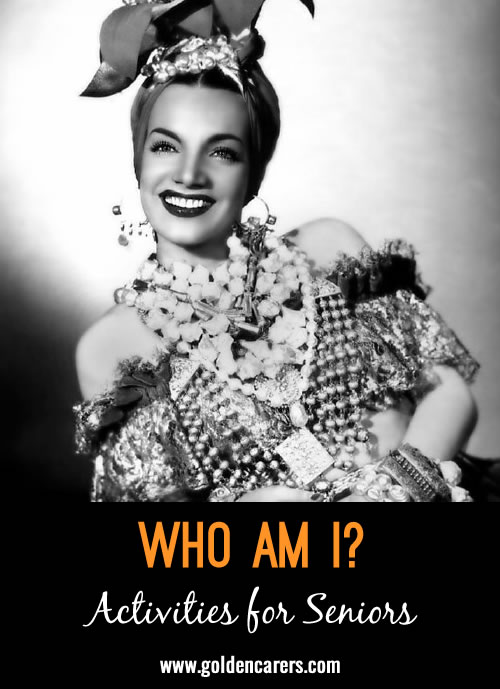 Guess who these famous people of yesteryear are - all born in February! A fun reminiscing activity.