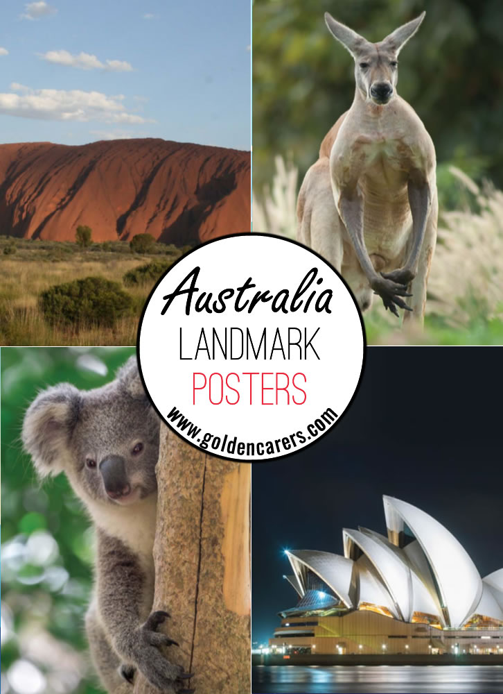 Posters of famous Australian animals and landmarks!