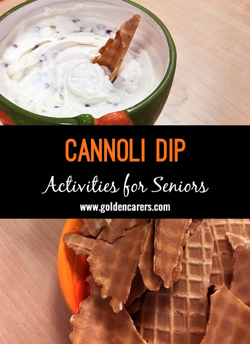 Easy-peasy cannoli dip recipe that is absolutely delicious!