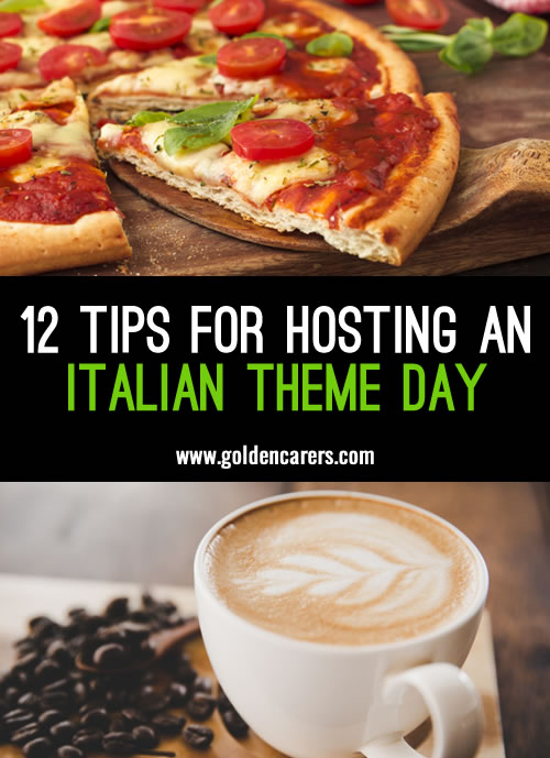 Italian themed days are a wonderful way to celebrate special calendar dates of Italy or just celebrate Italy in general!
