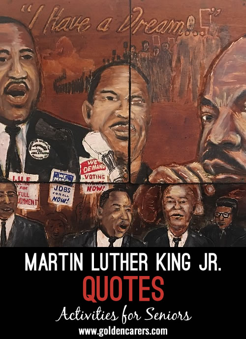 Martin Luther King Jr. was an American Baptist minister and activist who played a key role in the American Civil Rights Movement. From his philosophy of non-violent resistance emerged some profound thoughts that continue to inspire generations